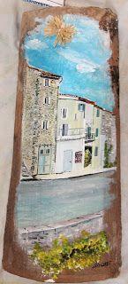 Le Village aux tuiles Blauvac Alexandre Girot... #Art #Artiste