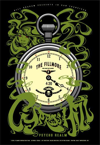 Scrojo's Cypress Hill Fillmore Poster