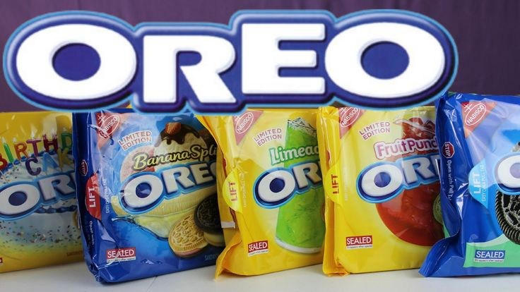 OREO Cookies Limited Edition-5 Different Flavors- Food Review | B2cutecu...