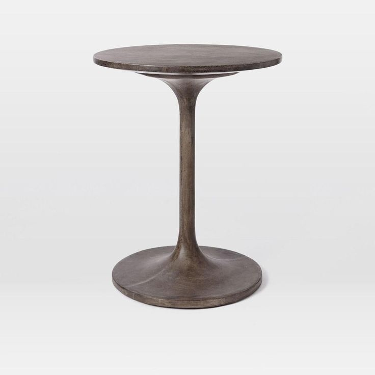 (approved) Concrete Pedestal Side Table | West Elm (between chair and sofa)