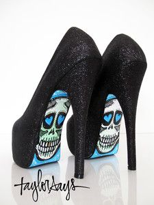 TAYLORSAYS original high heels EBONY glitter