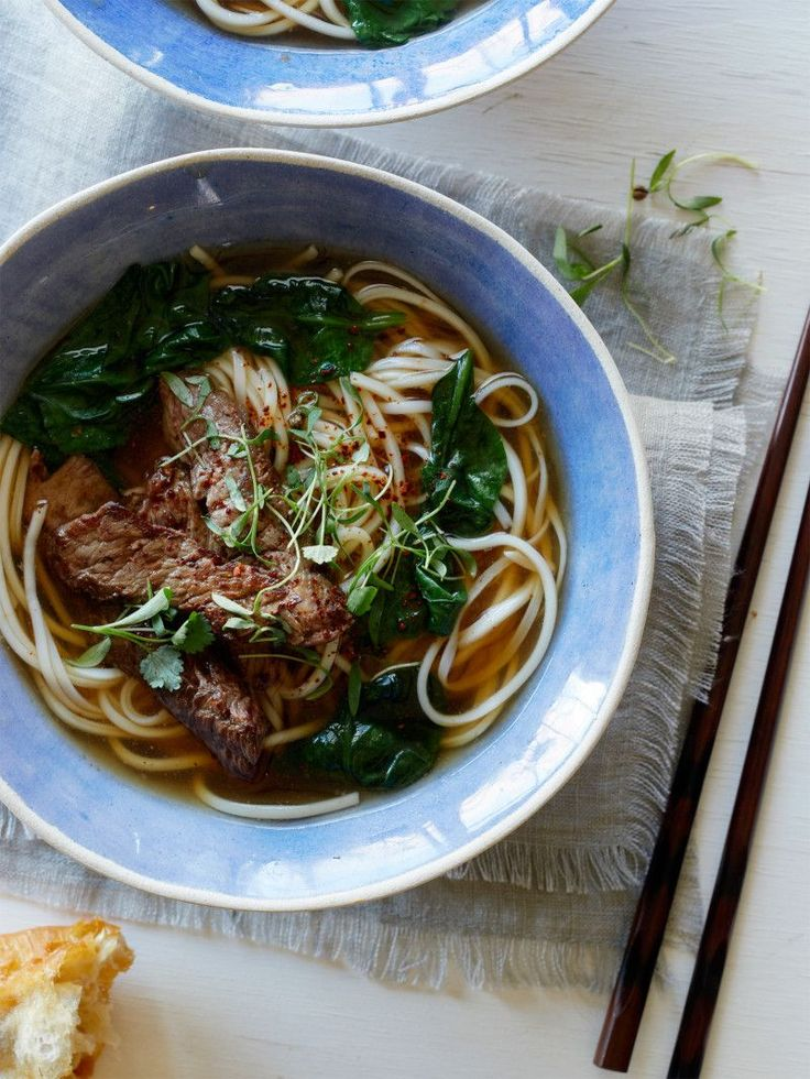 Ginger-Garlic Beef Noodle Soup recipe with @kitchenaidusa