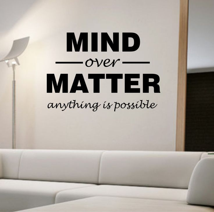 Mind Over Matter QUOTE motivation educationVinyl Wall Decal Sticker Art Decor Bedroom Design Mural interior design success education by StateOfTheWall on Etsy https://www.etsy.com/listing/248617203/mind-over-matter-quote-motivation