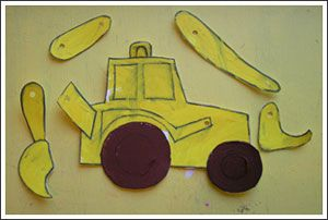 digger for Mike Mulligan, a book & a craft
