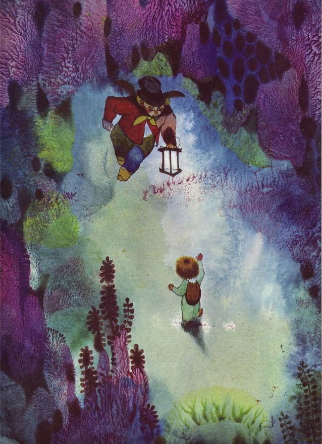 Jiri Trnka - illus. for Fireflies, 1969