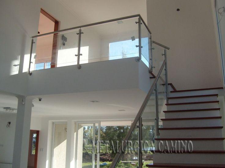 Barandas en acero inoxidable con vidrio de seguridad for Barandas de acero