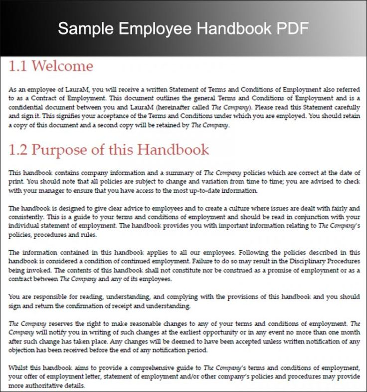 Employee Handbook Examples Check more at https