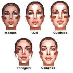 maquiagem e cabelo para rosto oval - Pesquisa Google