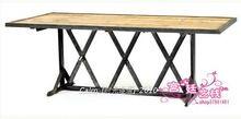 Французский в стиле кантри сварочное железо журнальный столик чердак старинные деревянные журнальный стол обеденный стол стол(China (Mainland))