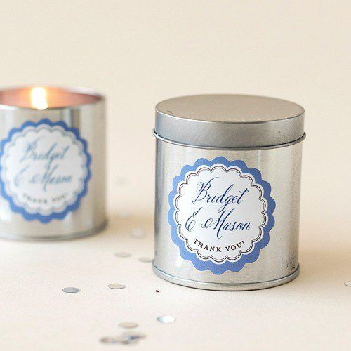 Personalized Scalloped Wedding Labels by Beau-coup