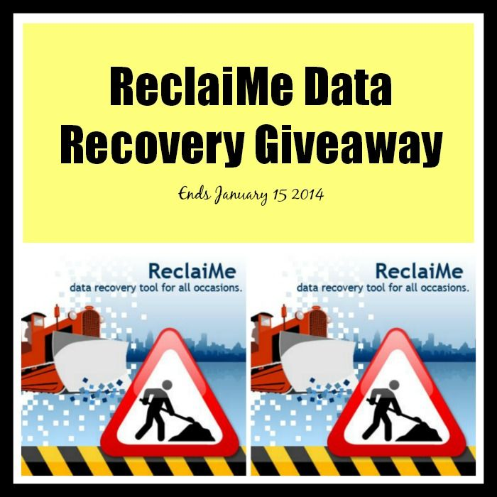 ReclaiMe Data Recovery Giveaway Ends January 15 2014
