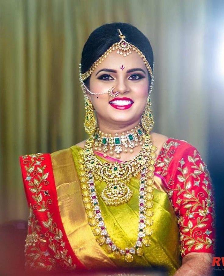 golden bridal saree