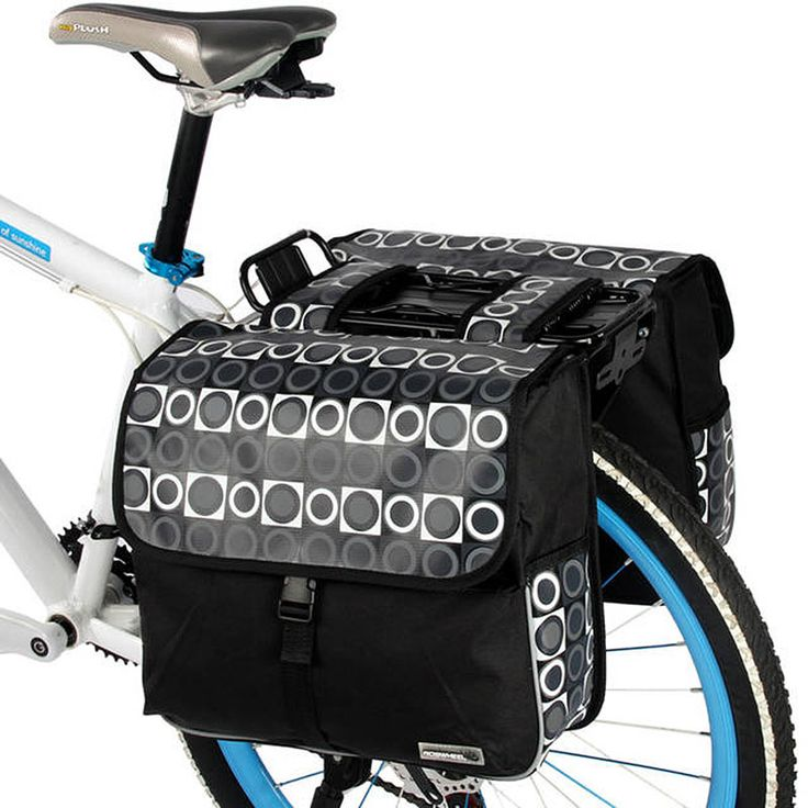 ROSWHEEL  Carrier Bag 28L Rear Rack Trunk Bike Luggage Back Seat Pannier Two Double Bags Outdoor Cycling Saddle Storage 14600