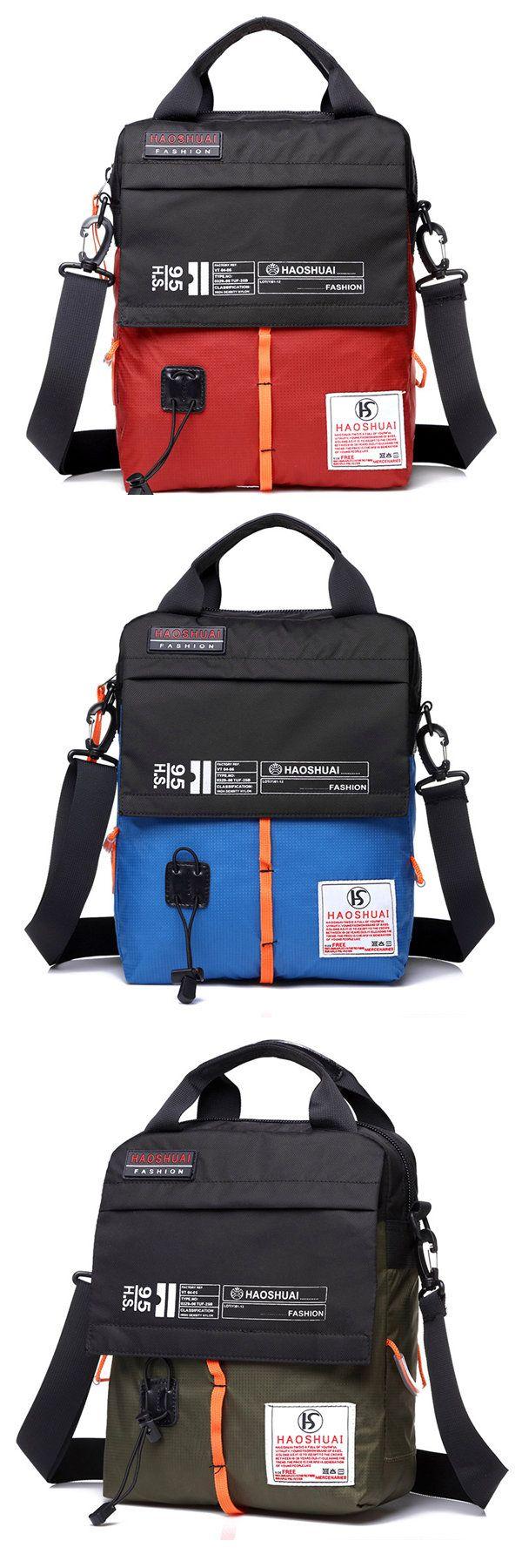 $21.12 Nylon Waterproof Assorted Colors Portable Shoulder Bags Crossbody Bags For Men