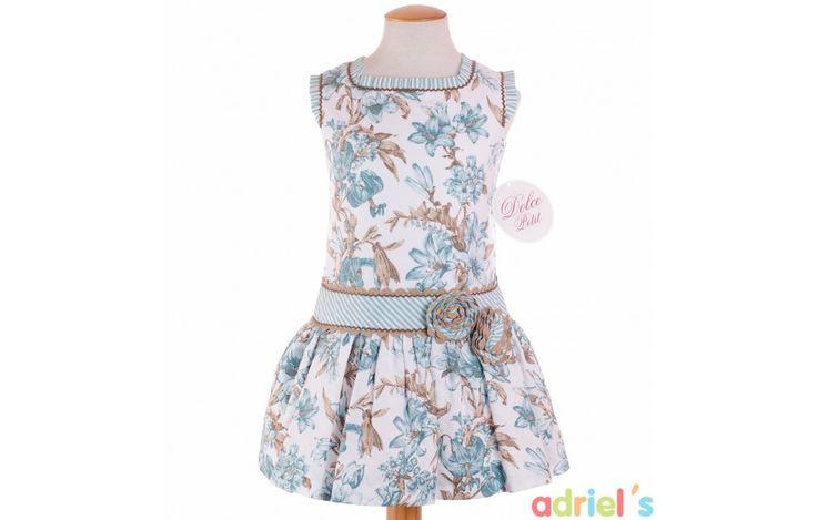 Vestido estampado para niña de Dolce Petit - adrielsmoda.es