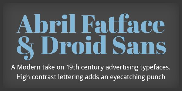 10 Great Google WebFont Combinations For Your Next Project - Monkee-Boy Blog