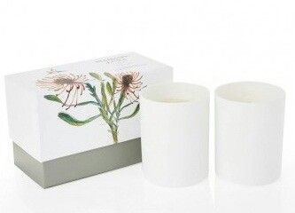 Treat yourself to beautiful scented candles in a gorgeous porcelain holder!