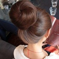 Big Sale! 3 Colors Women Girls Hair Extensions Bun Updo Clip on Hairpiece Hair Care