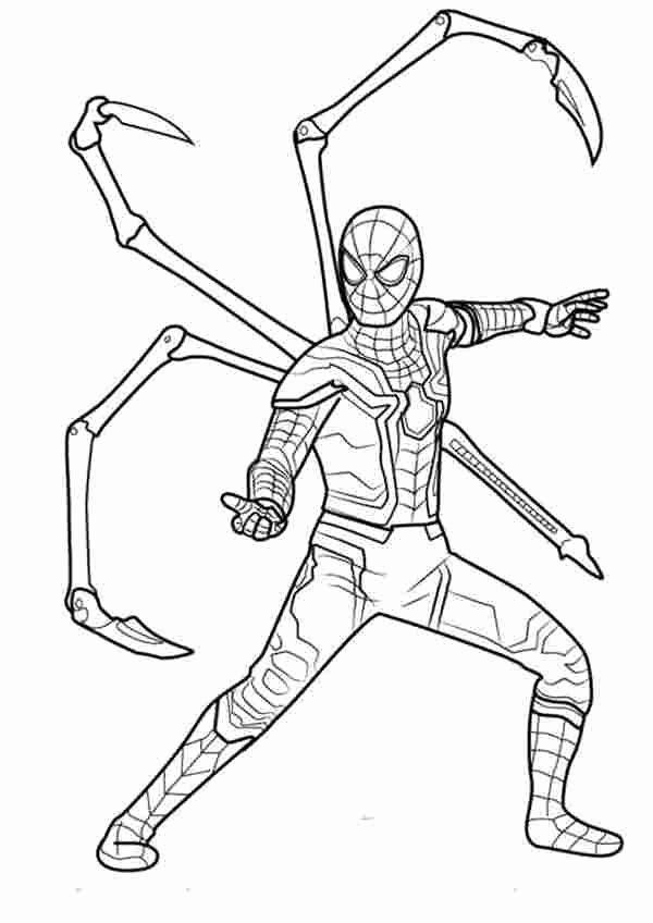 Coloring Pages For Kids Avengers Iron Spider Folhas Para Colorir Desenho De Crianca Desenhos Infantis