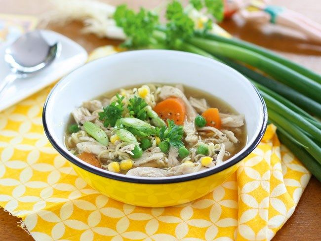 Slow cooker chicken noodle soup :: Mother and Baby Magazine Mobile Veggie Smugglers recipe