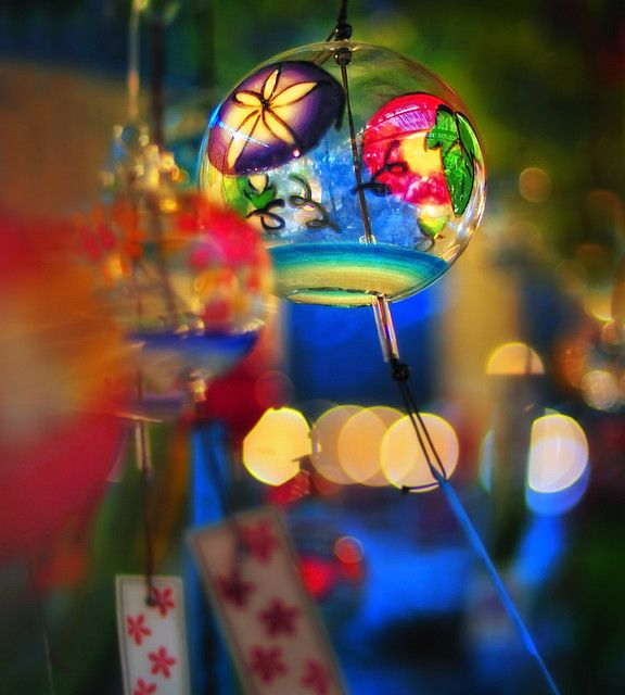 """"""" Japanese wind chime """", as moment of summer of #Japan."""