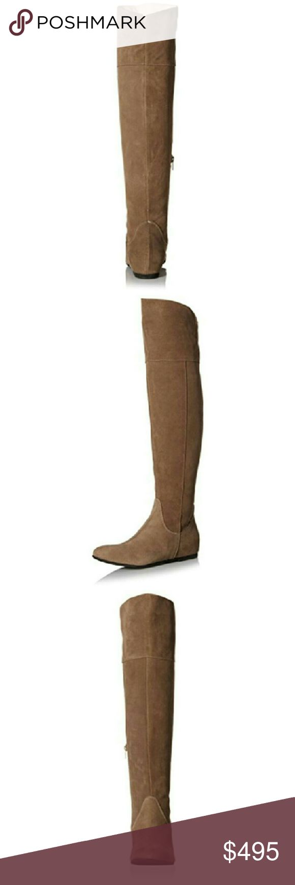 Butter OTK Boots Dished Taupe 7.5M Butter Womens Dished Taupe Over-The-Knee Boots Shoes 7.5M  Manufacturer: Butter Size: 7.5 Medium Manufacturer Color: Taupe  Retail: $568.00 Condition: New with box Style Type: Fashion Over The Knee Shoe Width: Medium (B, M) Heel Height (Inches): 2 Platform Height (Inches): 1/4 Shaft Height (Inches): 21 1/4 Shaft Width (Inches): 15  Closure: Side Zipper Material: Leather Fabric Type: Suede Style Number: DISHED Butter Shoes Shoes Over the Knee Boots