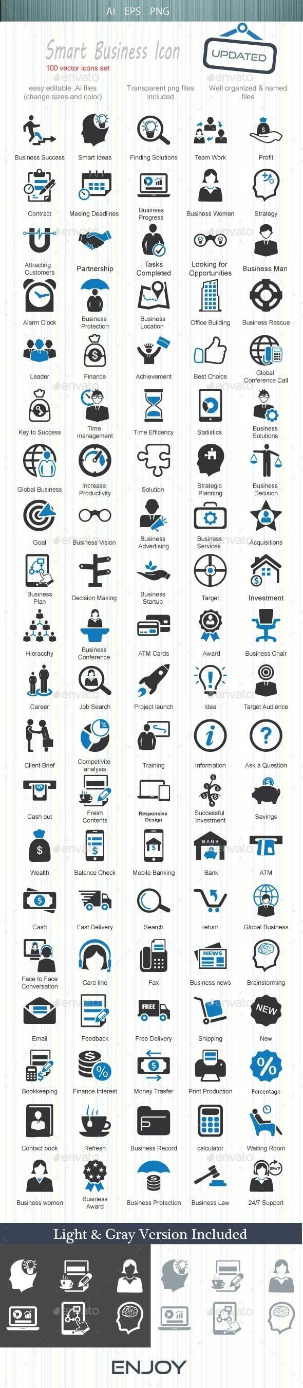 Smart Business Icon — Vector EPS #statistics #business services • Available here → https://graphicriver.net/item/smart-business-icon/11718229?ref=pxcr