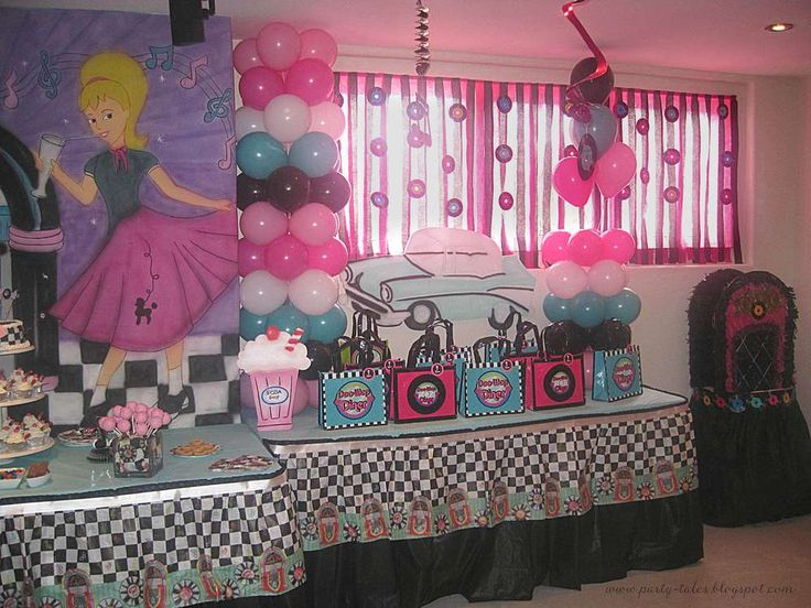 Sock Hop 50u0027S Theme Diner Birthday Party Ideas