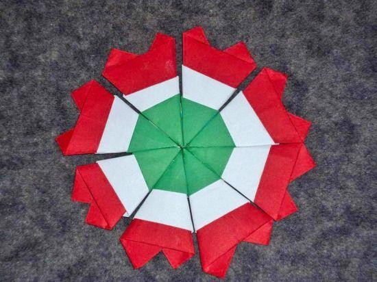Origami kokárdák - Színes Ötletek