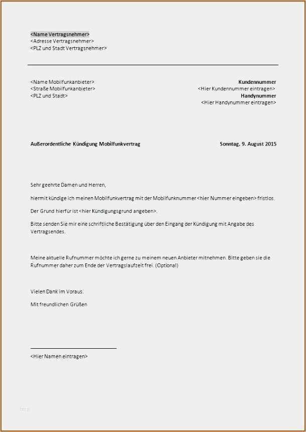23 Grossartig Vorlage Kundigung Dsl 1 Amp 1 Ideen In 2020 Handyvertrag Vorlagen Word Vorlagen