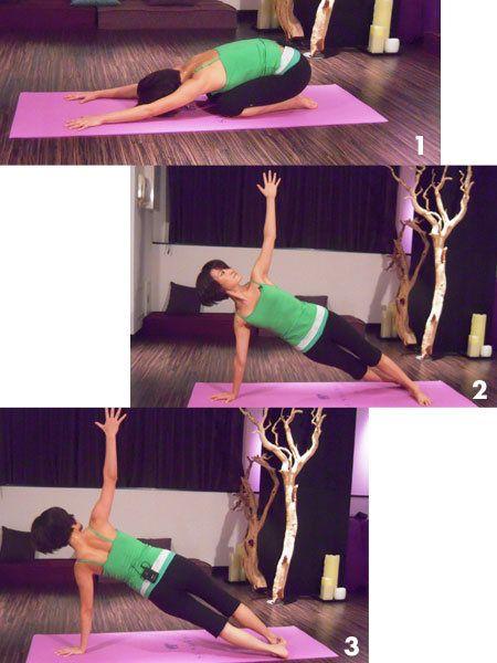 ゆったり呼吸しながら行うことで、気になる二の腕やお腹が引き締まる。1. 腕立て伏せのポーズから膝を折って背中を丸め、腕を伸ばし顔を...
