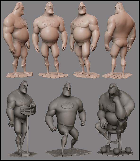 Mr. Increible Pixologic ZBrush Gallery: Alessandro Baldasseroni Zbrush Sculpts