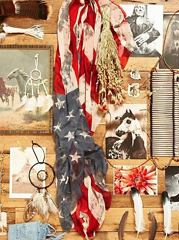 American flag scarf from Free People