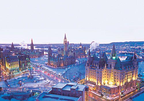 Downtown Ottawa in Winter