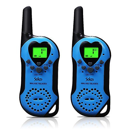 Walkie Talkies for Kids, 22 Channel Child Walkie Talkies 2 Way Radio 3 Miles (Up to 5Miles) FRS Handheld Walkie Talkie for Kids (Pair) (Blue). For product & price info go to:  https://all4hiking.com/products/walkie-talkies-for-kids-22-channel-child-walkie-talkies-2-way-radio-3-miles-up-to-5miles-frs-handheld-walkie-talkie-for-kids-pair-blue/