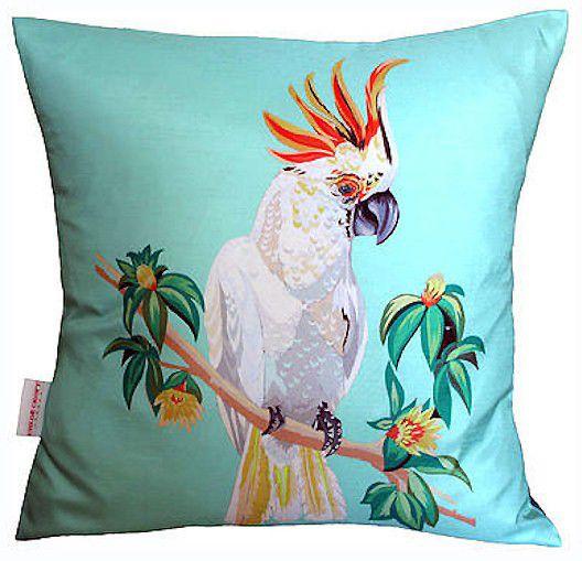 Cockatoo Cushion - Blue