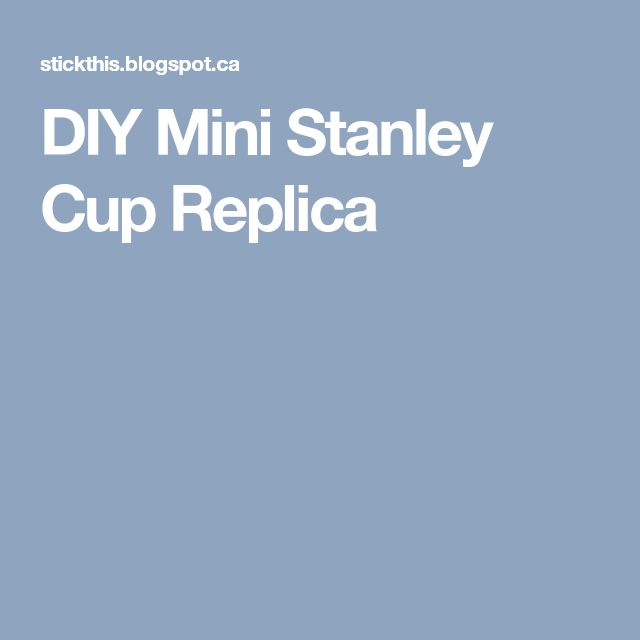 DIY Mini Stanley Cup Replica