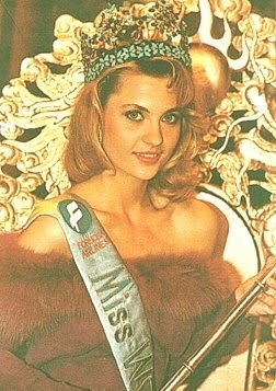 Aneta Kręglicka, Polish beauty who gained title of Miss World in 1989.