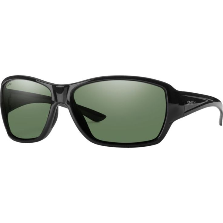 Smith Optics Purist Polarized Sunglasses, Black/Grey/Green