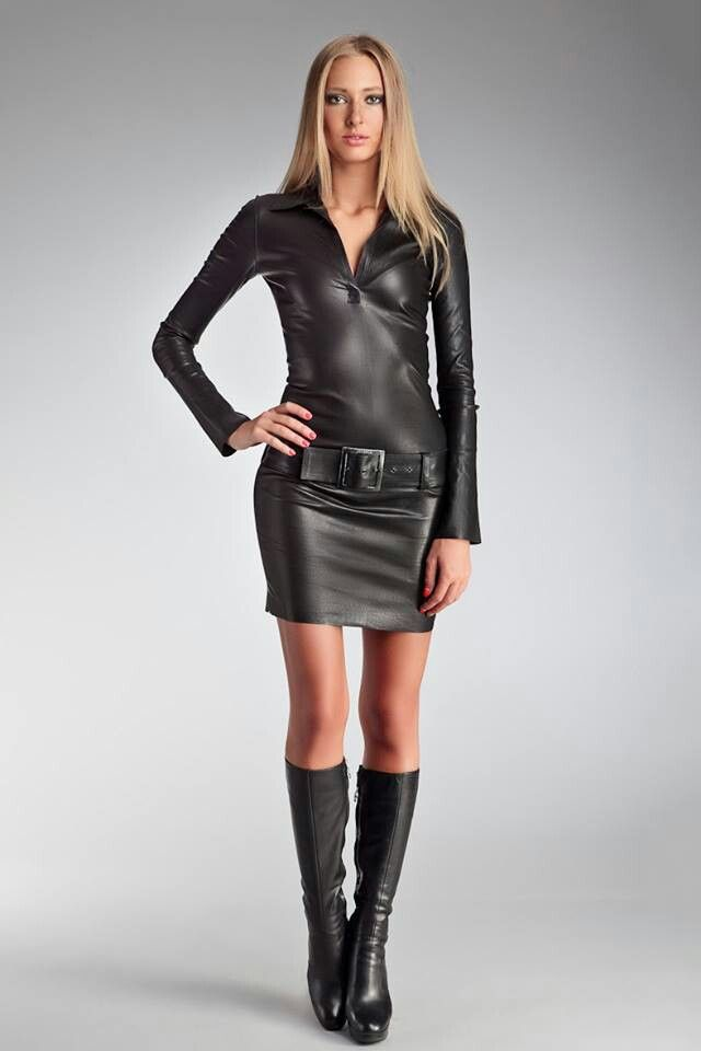 17 Best images about Leather dress on Pinterest | Sexy Spank me and Leather outfits