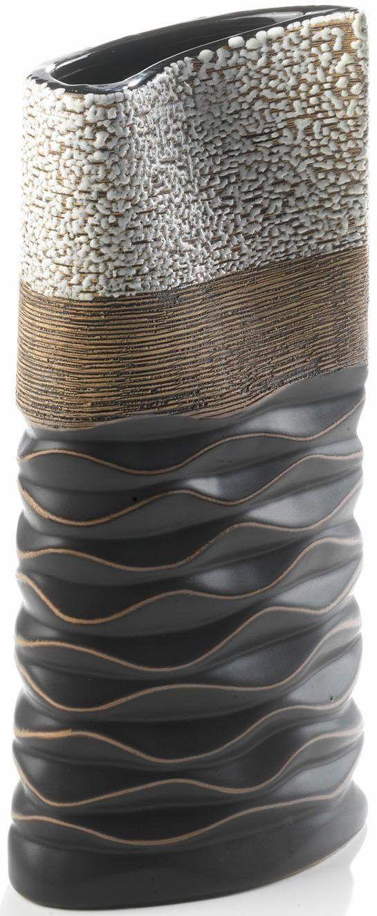 Home affaire Deko-Vase silber Jetzt bestellen unter: https://moebel.ladendirekt.de/dekoration/vasen/tischvasen/?uid=3293f4a3-d028-5ab6-a465-0906d1c197eb&utm_source=pinterest&utm_medium=pin&utm_campaign=boards #tischvasen #dekovase #vasen #dekoration