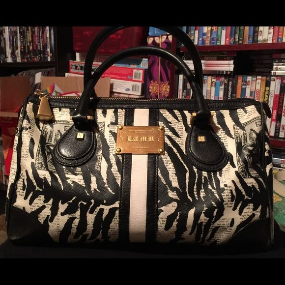 L.A.M.B leather handbag Authentic LAMB Black Leather handbag, extremely well taken care of. No dust bag L.A.M.B. Bags Satchels