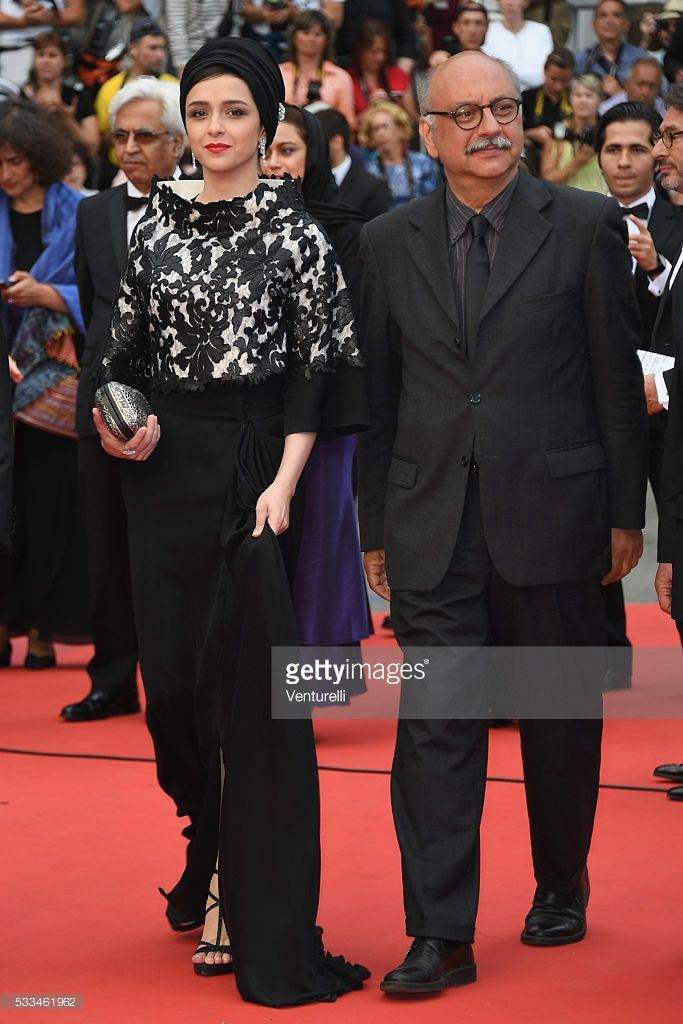 Actors Taraneh Alidoosti and Babak Karimi attend the closing ceremony of the 69th annual Cannes Film Festival at the Palais des Festivals on May 22, 2016 in Cannes, France.