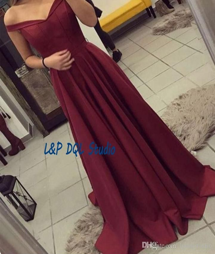 Sexy Burgundy Evening Dresses Off Shoulder Zipper Back Satin Long Prom Dresses Cheap Red Carpet Dresses Cheap Elegant Evening Dresses Uk Elegant Formal Dresses From Lpdqlstudio, $78.35| Dhgate.Com