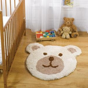 Nursery Teddy Bear Rugs In Natural