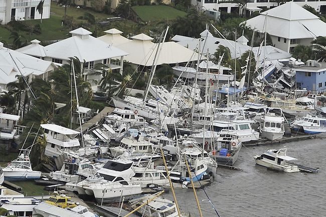 Some of the results from Severe Tropical Cyclone Yasi on February 3, 2011 - Hinchinbrook Marina, Cardwell.