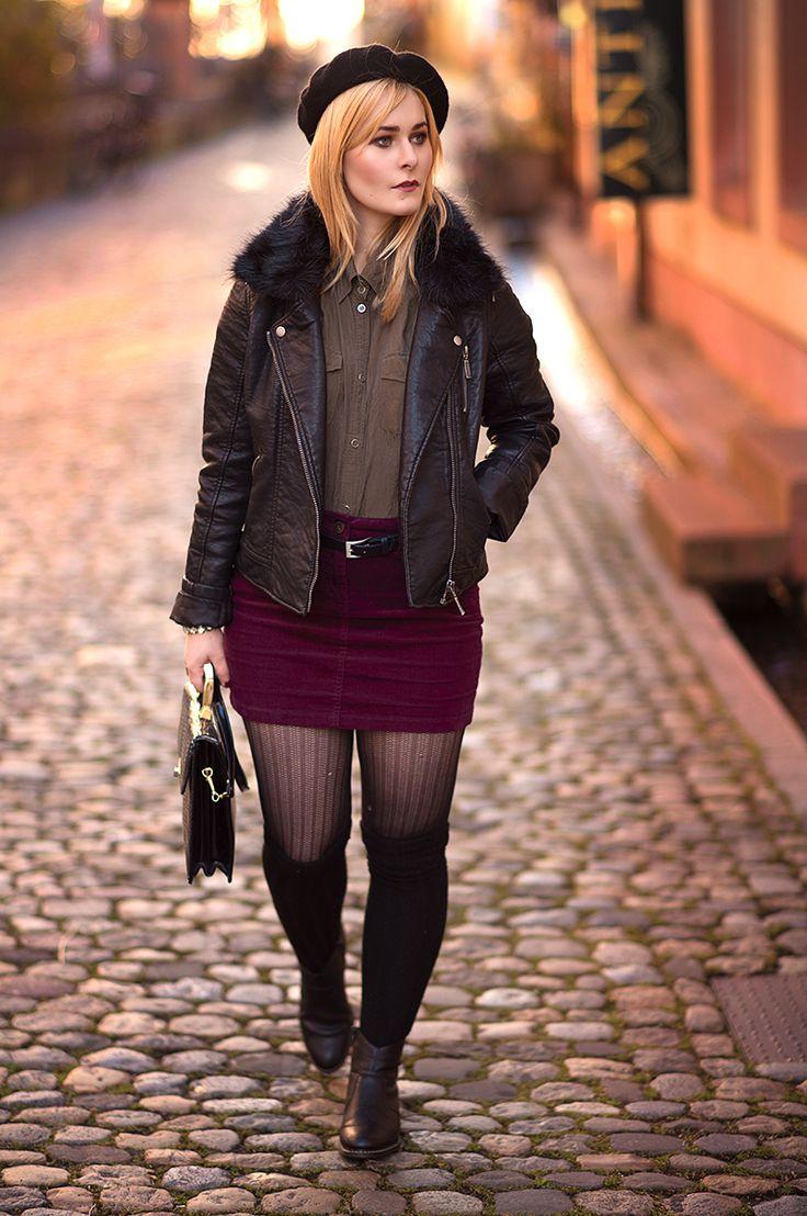 Christina Key trägt ein sexy Herbst Outfit in den Straßen von Freiburg