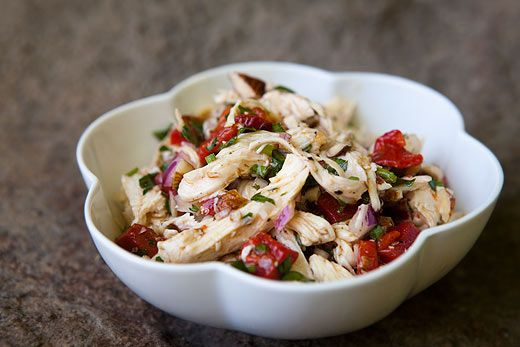 Chicken Salad with Roasted Bell Peppers and Toasted Almonds...sounds ...