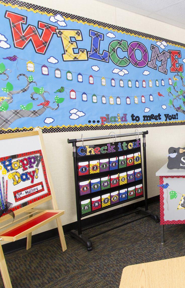 Classroom Decor Resources ~ Best plaid classroom decorations images on pinterest