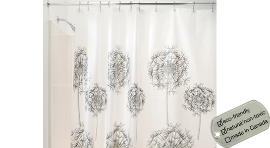 PVC-Free EVA Shower Curtain - allium flowers